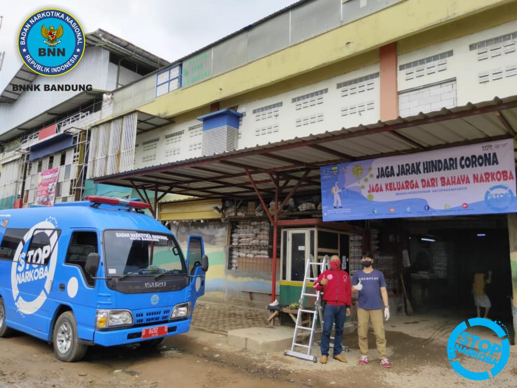 BNN Kota Bandung beri Himbauan Cegah Narkoba dan Covid-19 kepada Masyarakat