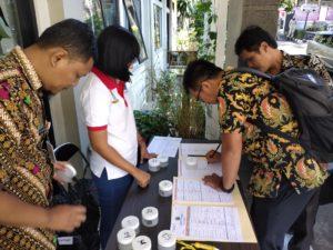 Dua Kecamatan kota bandung di Tes Urin Oleh BNN Kota Bandung