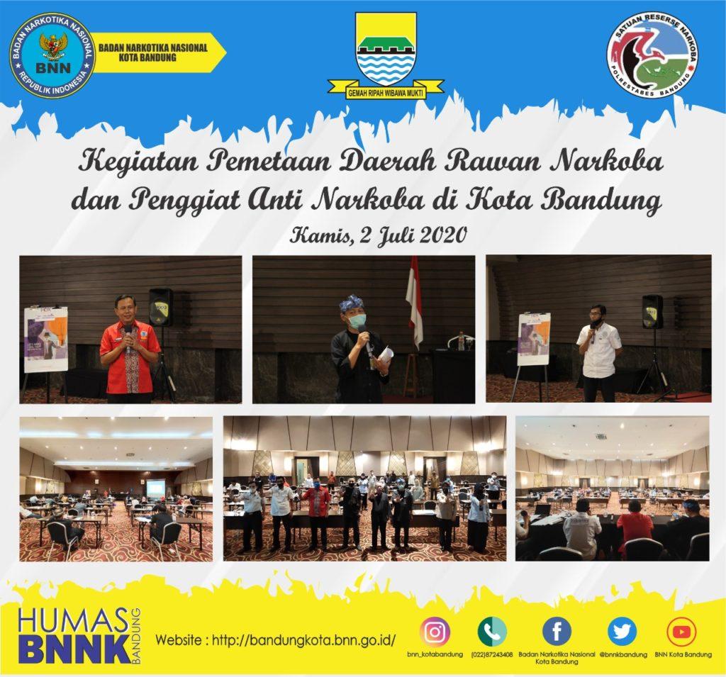Pemetaan Daerah Rawan Narkoba, BNN Kota Bandung Lakukan Rapat Koordinasi