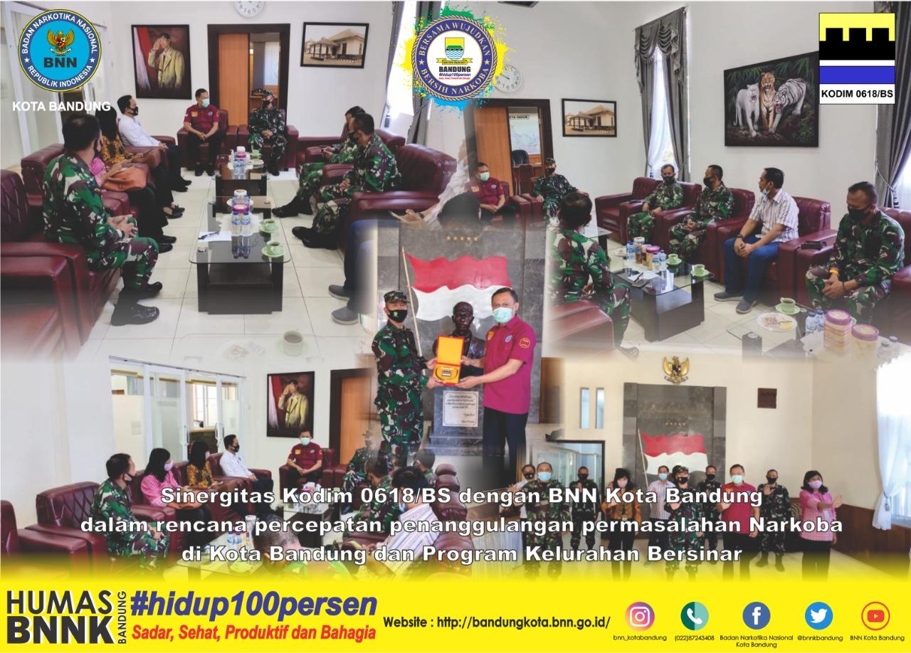 Sinergitas Kodim 0618/BS dengan BNN Kota Bandung dalam Rencana Percepatan Penanggulangan Permasalahan Narkoba di Kota Bandung