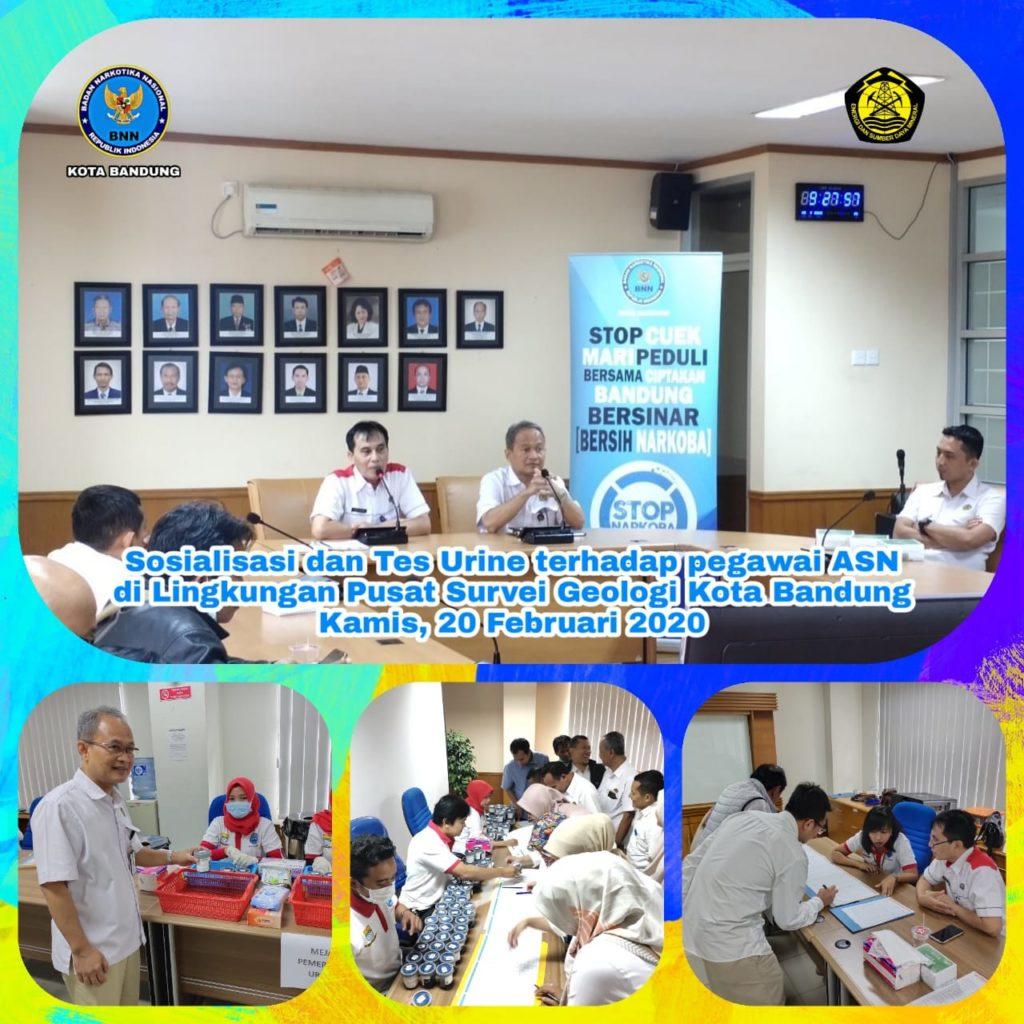 Dukung P4GN Pusat Survei Geologi Kementerian ESDM lakukan tes urin kepada pegawainya