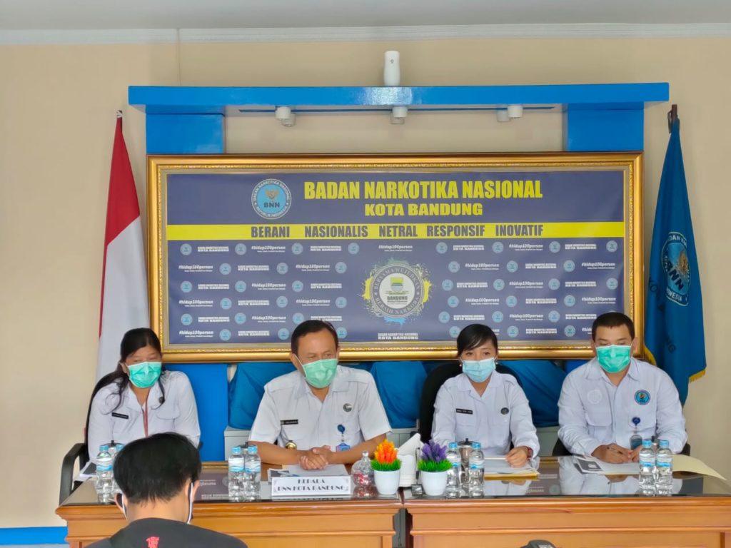 BNN Kota Bandung lakukan Press Release Akhir Tahun 2020
