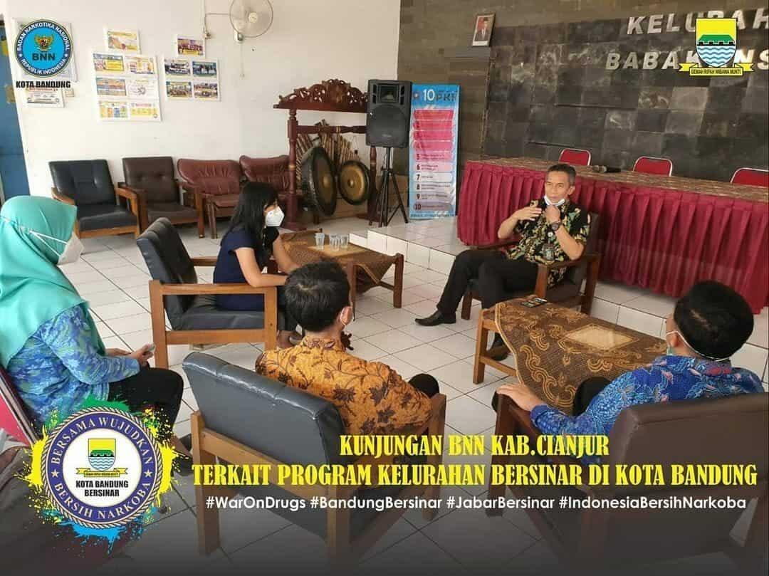 Kunjungan BNN Kab Cianjur terkait Program Kelurahan Bersinar di Kota Bandung