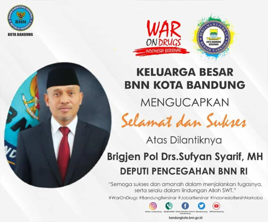 Selamat dan Sukses atas dilantiknya Brigjen Pol Drs. Sufyan Syarif, MH