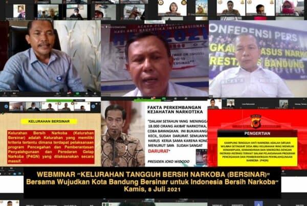 Sinergitas Program, P4GNPN Gelar Webinar Kelurahan Tangguh Bersih Narkoba